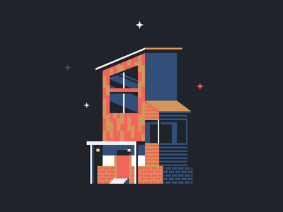 Number One number night 1 one architecture building foundation house home stars simple illustration icon