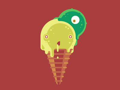 Mint Slug just for fun zombie slug ice cream vanilla mint sponger brain slug melt
