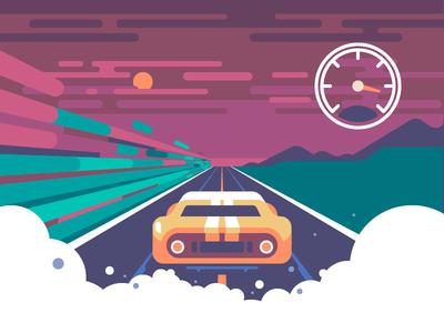 Wroom wroom vehicle landscape sky sunset speed speedometer race road game car auto racing