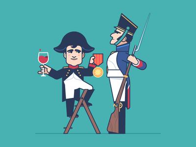 Napoleon wine ladder rifle soldier medal award