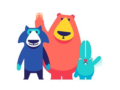 The Wilds appstore fuck character rabbit wolf bear animal ios imessage sticker