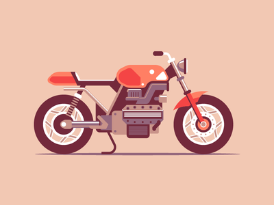Cafe Racer vehicle motorcycle