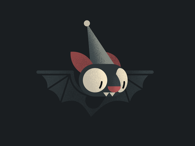Bud cute just for fun character design wizard animal dark mouse bat character