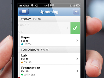 Tabule is your student planner, on steroids. iphone todo student planner app tabule