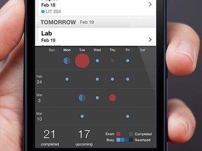 Tabule Dot Chart iphone todo student planner app tabule