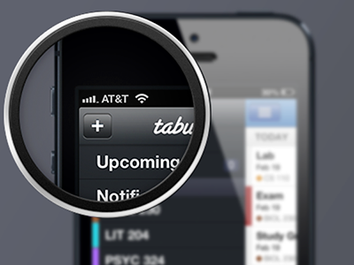 Tabule Sidebar iphone todo student planner app tabule