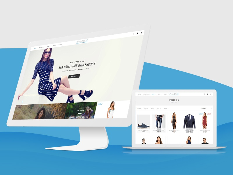 Phoenix Shopify Theme By Hulkcode Dribbble Dribbble