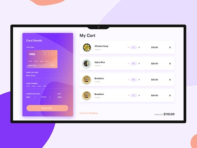 My Cart UI shopping shop product food ecommerce checkout bag