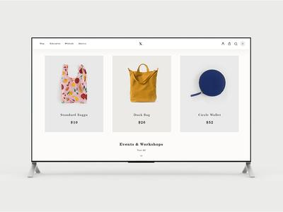 Minimal Website slider product page eccomerce banner web