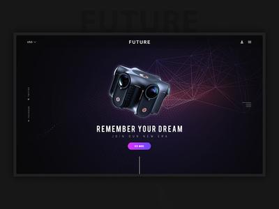 Future Is Here design graphics website banner web landingpage camera future