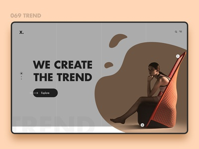 Web Furniture slider ui ux psd android ios trend new furniture web