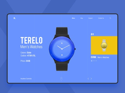 X Watch Series psd ux ui graphic webdesign luxurious royal branding watch ad banner
