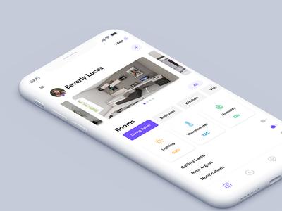 Home App Concept profile psd iphonex ios mobile app graphics uidesign ui