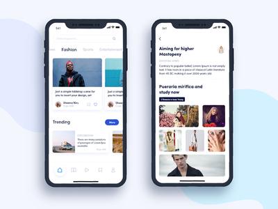 News App UI profile psd home design graphics iphonex ux ui news
