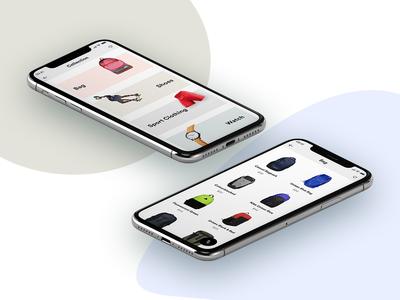 E-commerce app list psd shopping ui android ios minimalistic graphics ecommerce ui e-commerce app