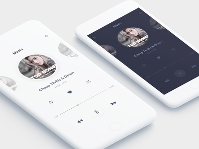 Music App player xd psd design ux android ios song app music