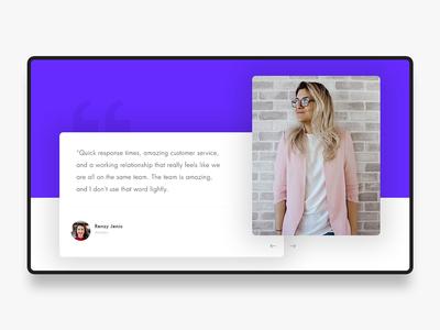 Testimonial page vector themes psd graphics minimalistic banner testimonial web