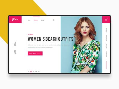 Fashion Store Page web branding illustration themes minimalistic ecommerce design website