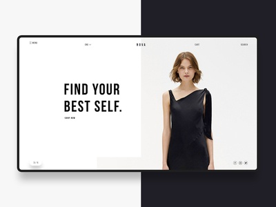 Online Store page minimalistic graphics web themes ecommerce banner website