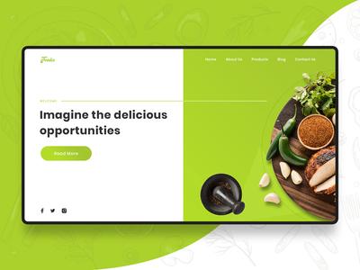Food banner themes minimalistic design homepage xd banner food  drink food app food