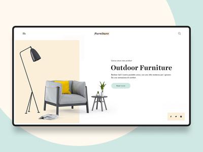 Furniture Store banner design ecommerce minimalistic web website furniture