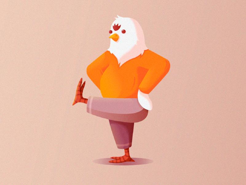 Dance like no one sees dancing badbird bird chicken 2d design illustration