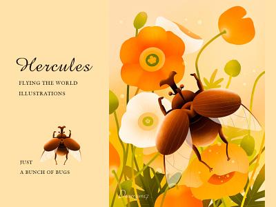 Herculesbeetlez paint illustration design illustrations