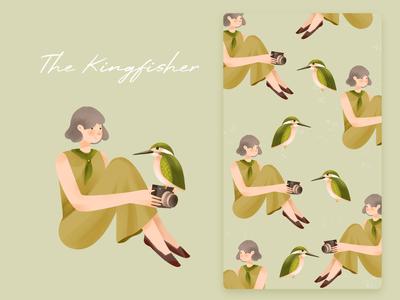 Illustrations - Girl and bird bird doodle illustration illustrations