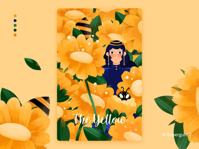 The yellow-Color illustrations illustrations color