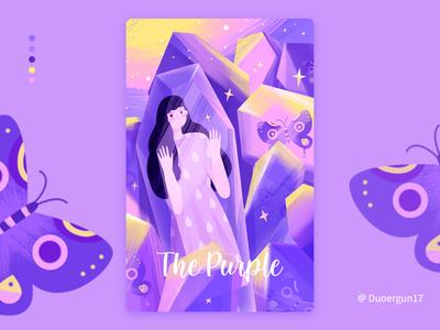 Purple illustration color design