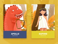 The story of Apollo and daphne.
