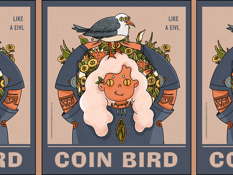 The cion bird_illustration branding doodle design illustration illustrations