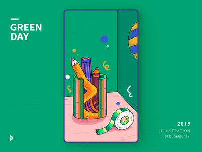 illustration-green day