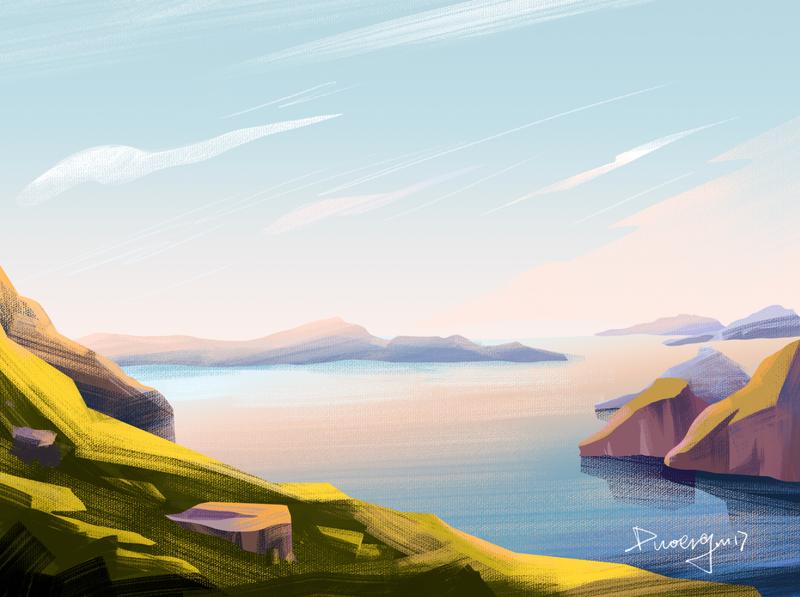 The scenery illustrations