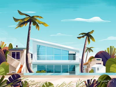 The scenery illustrations paint illustration illustrations