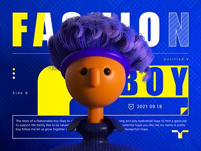 Fashion boy ID design app logo vector typography ux illustration branding icon design ui
