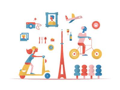 Paris illustration digital paris primarycolors vibes