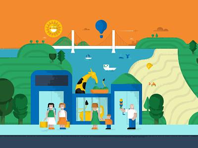Sweep Cover Illustration sweep illustration design landscape tech