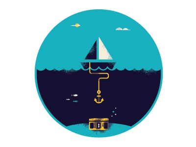 Treasure Sea illustration design treasure sea digital vibes
