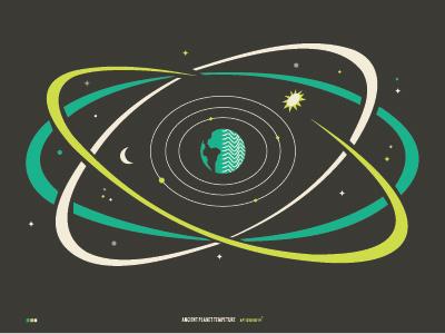 APT Map illustration design space vibes orbit digital