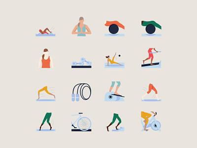 Eko Fitness Activity Icons women fitness ios illustrations icons