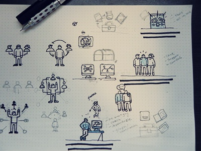 Sketch Process sketch ideas rough concept illustration icons vibes