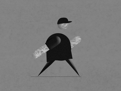 Walk cycle No1 blackandwhite after effects walk cycle motion design character