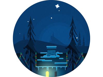 Joyeux Noel loop animation loop 2.5d christmas character animation after effects night stuck robot santa 2d animation merry christmas