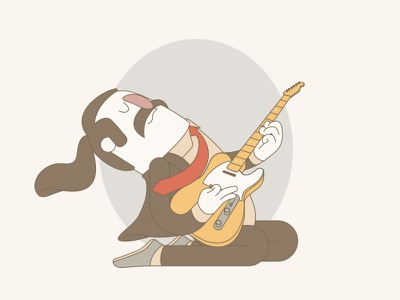 Work In Progress - Guitar character vector solo music guitar
