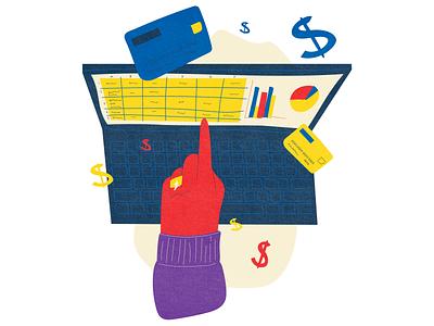 CBA - Accounting animal illustration charts credit card computer accounting accountant