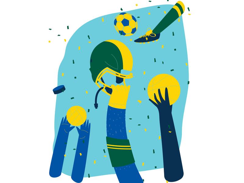 Cba Sports soccer basketball volleyball win winning sports illustration