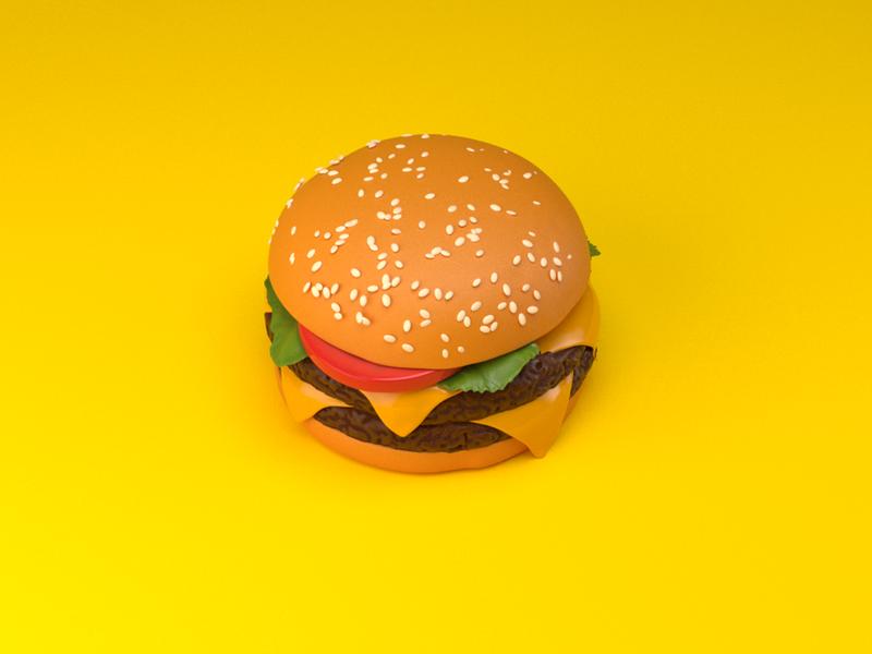Fastfood - Burger 3d burger fast food