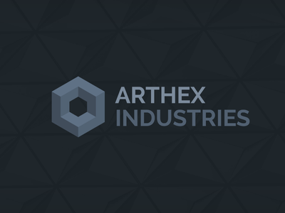 Arthex Industries design graphic branding wordmark logo