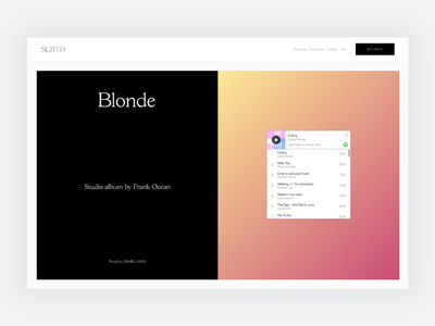 Editorial Layout Design (Playlist) spotify playlist suited magazine cover story layout design publishing cms editorial layout